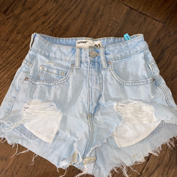 light wash garage festival shorts